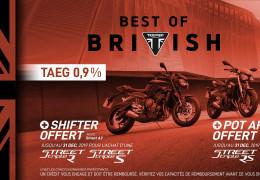 Shifter ou pot Arrow offert Street Triple RS